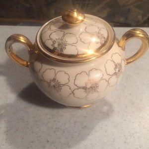 Antique decorative sugar bowl